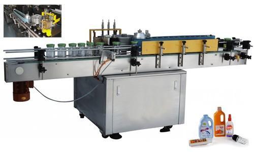 آلة لصق الملصقات الأوتوماتيكية للزجاجة المضغوطة ، آلة لصق الملصقات الأوتوماتيكية 550 كجم