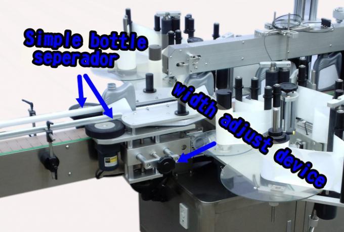 آلة وضع العلامات الأوتوماتيكية الممتازة لزجاجة المنظفات ملصق مزدوج الجانب