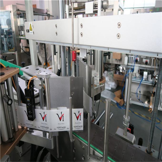 آلة لصق الملصقات الأوتوماتيكية المزدوجة الجانب ، آلة لصق الزجاجات البلاستيكية لصناعة مستحضرات التجميل