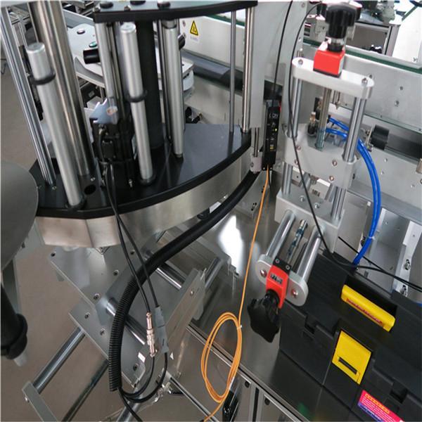 ثلاثة جوانب التلقائي آلة لصق زجاجة مربعة نوع الكهربائية مدفوعة