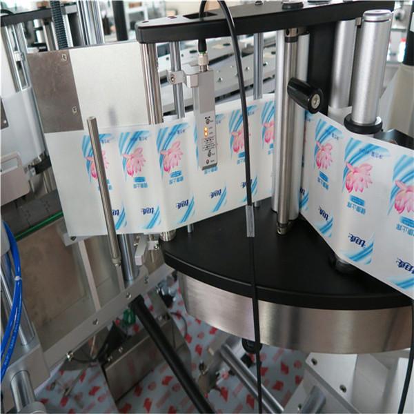 آلة لصق زجاجة على الوجهين ذاتية اللصق ذاتي اللصق أوتوماتيكية بالكامل