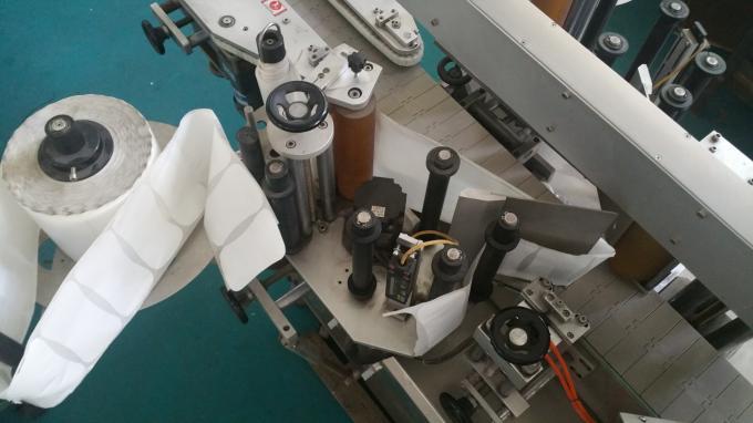 25kg جرة مربعة زجاجة ملصق قضيب آلة ، آلة وضع العلامات مع زجاجات تغذية سرعة مستقرة