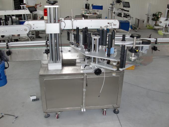 الزجاجات البلاستيكية والزجاجية يتحكم PLC آليًا مزدوج الجانب آلة وسم الملصقات محرك سيرفو