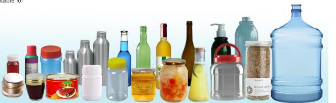 زجاجة مستديرة أوتوماتيكية مزدوجة الجانب ملصق وضع العلامات على زجاجة البيرة