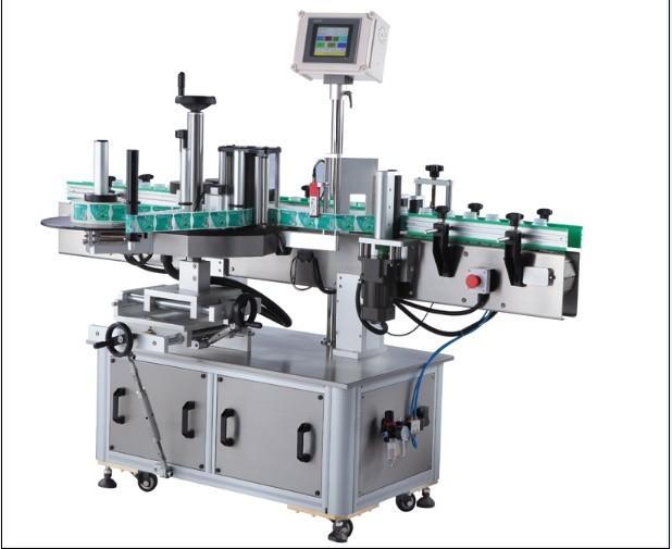 آلة لصق الملصقات المستديرة الحساسة للضغط ، آلة لصق الملصقات العمودية