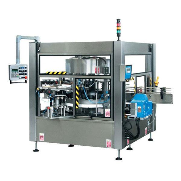 آلة وسم الملصقات الدوارة ذات الزجاجة الأوتوماتيكية الكاملة CE