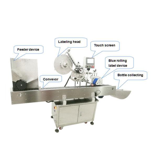 آلة وضع تسمية زجاجة أوتوماتيكية بالكامل مع شهادة CE