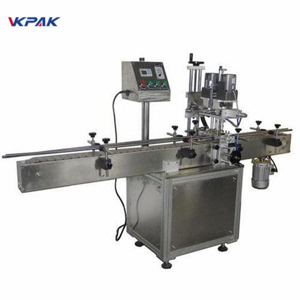 آلة وسم الزجاجة المستديرة الصناعية ذات الوجهين لمنتجات مستحضرات التجميل