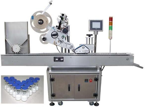 الصين 10 مل آلة وسم زجاجة صغيرة مع عملية PLC ، آلة ملصق تسمية البنسلين لمورد الأدوية