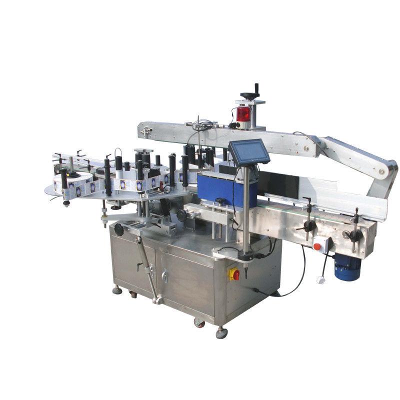 آلة وضع العلامات على الزجاجات المستديرة مزدوجة الجانب للمشروبات والمواد الغذائية والكيميائية