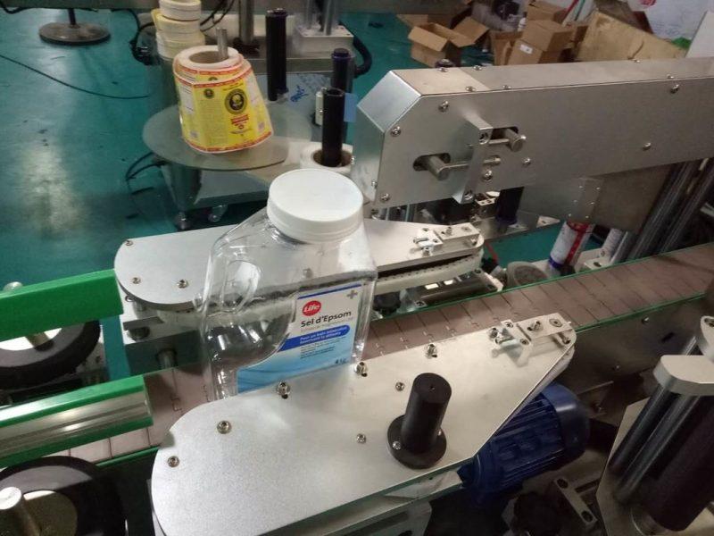 الصين SUS304 مجلس الوزراء وجهين مربع زجاجة ملصق آلة وسم مع منتجات العناية الشخصية المورد