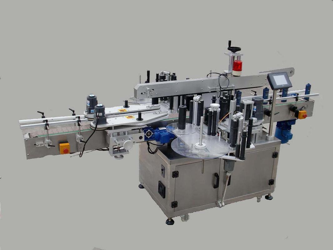 آلة لصق الملصقات الأوتوماتيكية المزدوجة الجانبية مع جهاز الترحيل وآلة الترميز