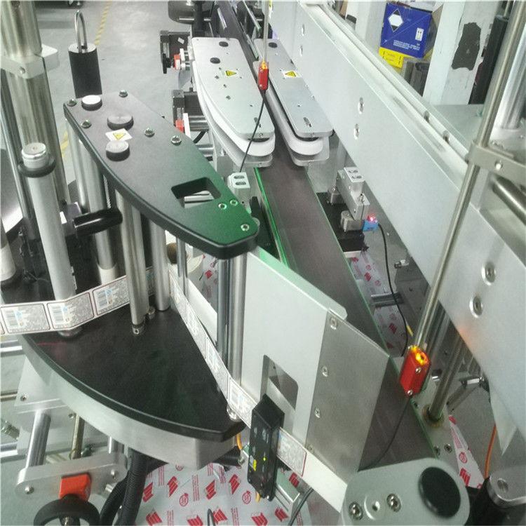 الصين التلقائي آلة وضع العلامات اللاصقة مزدوجة الجانب لمورد زجاجة مسطحة مستديرة