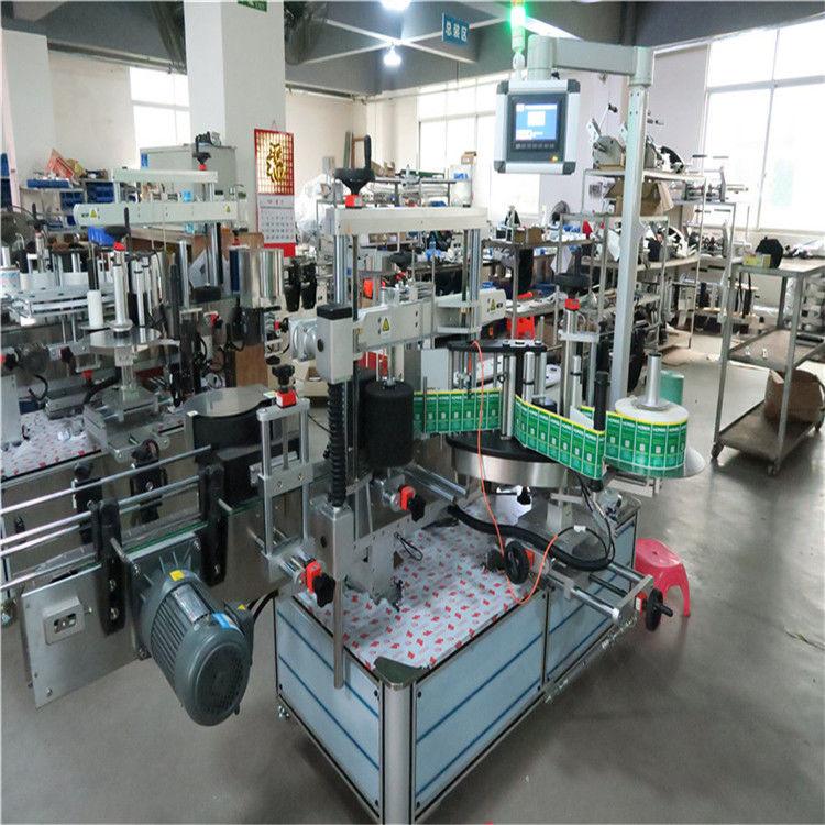 آلة لصق الملصقات الأوتوماتيكية الصينية ذات الملصقات المربعة على جوانب مزدوجة / مورد من جانب واحد