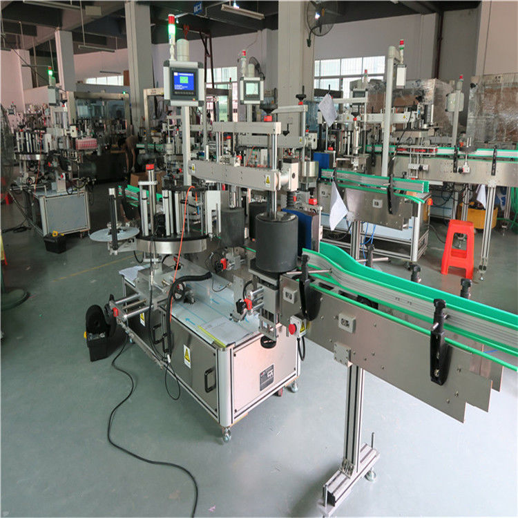 الصين آلة وسم زجاجة الحيوانات الأليفة المستديرة ، آلة وضع الملصقات الأوتوماتيكية المورد ذاتية اللصق