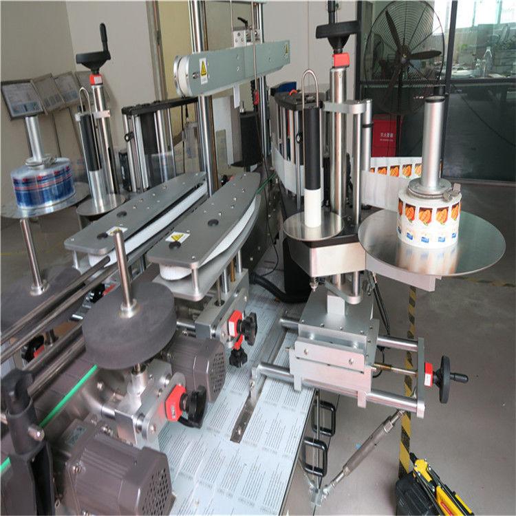 آلة لصق الملصقات الصينية ، مورد آلة وسم زجاجة مستديرة أحادية / مزدوجة الجانب
