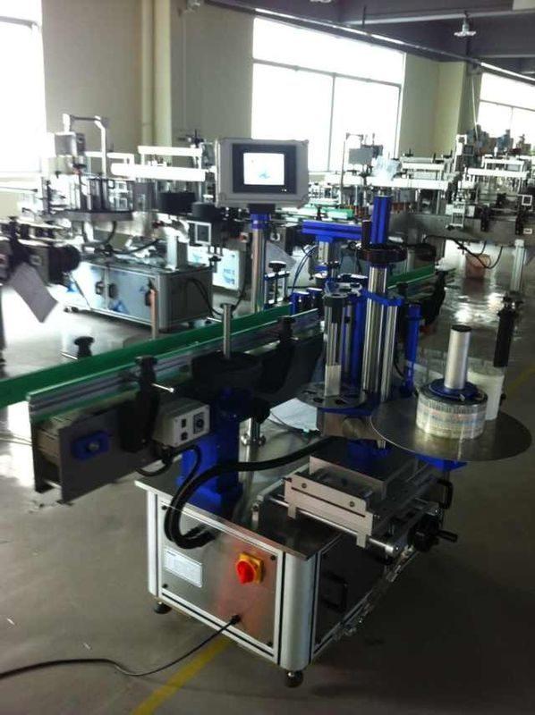 آلة لصق الملصقات الأوتوماتيكية الكاملة في الصين ، آلة وسم الزجاجة مع مورد شهادة CE