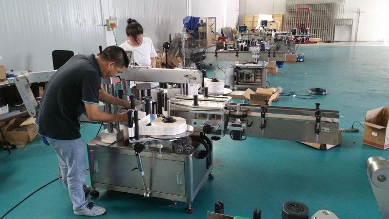 الصين آلة وسم زجاجة المياه المخصصة ، آلة تسمية مقاعد البدلاء الأوتوماتيكية لمورد الجانبين
