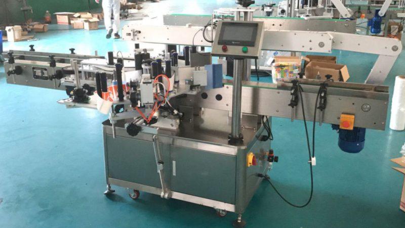 آلة لصق الملصقات الأمامية والخلفية الصينية مع آلية التصحيح ، مورد آلة لصق الملصقات
