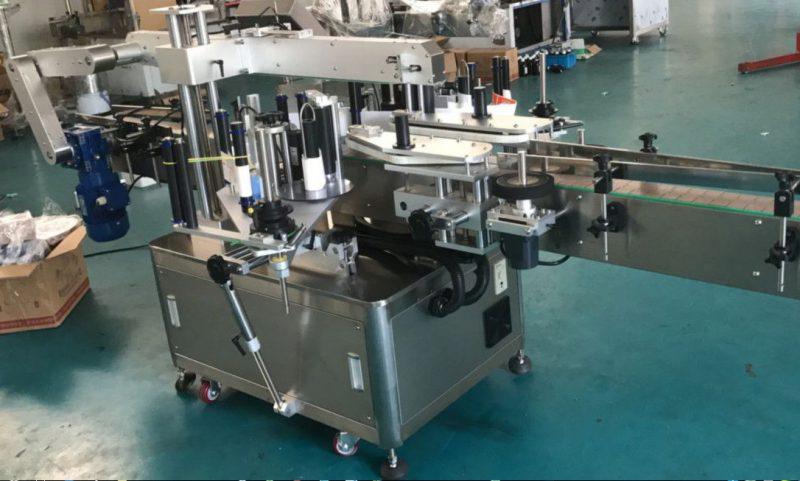 الصين عالية السرعة مزدوجة الجانب آلة وسم الملصقات لمورد زجاجة مربعة / مستديرة / مسطحة