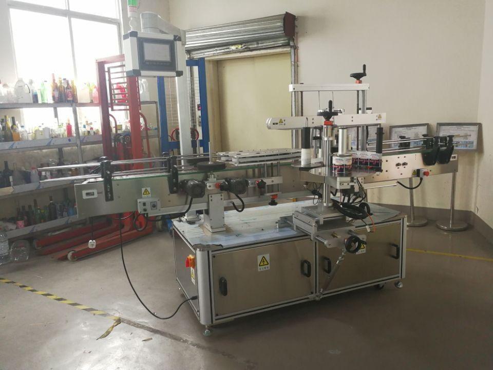 آلة وسم زجاجة مربعة أوتوماتيكية بالكامل تلتف حول 3000-5000b / H