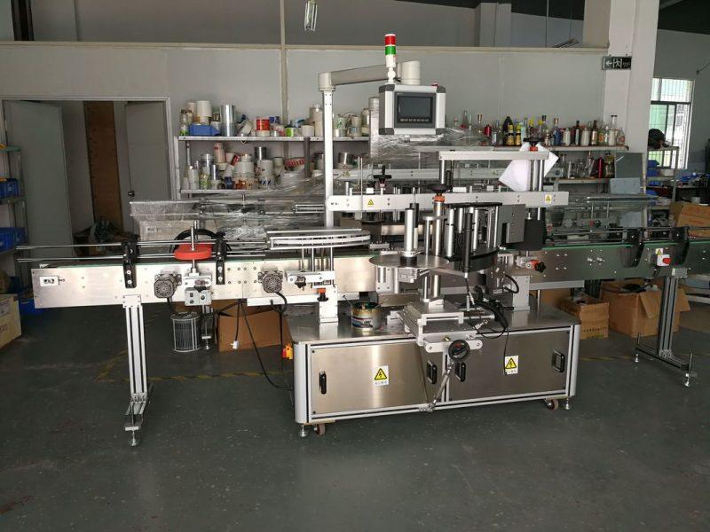 الصين الذاتي لاصق ملصق آلة لصق زجاجة مسطحة عالية السرعة 5000-1000B / ساعة المورد