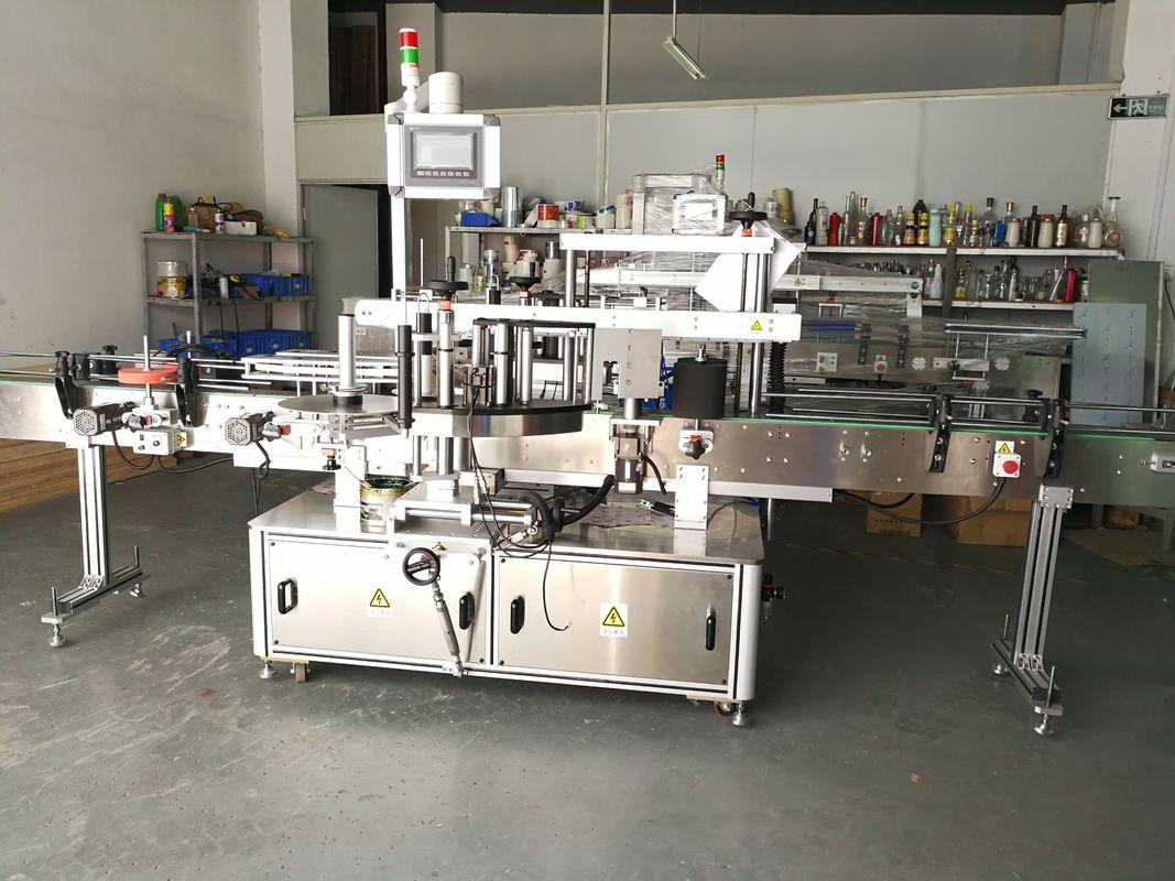 آلة وسم الزجاجة المستديرة / آلة وضع الملصقات ذات السطح المسطح الأوتوماتيكي بالكامل