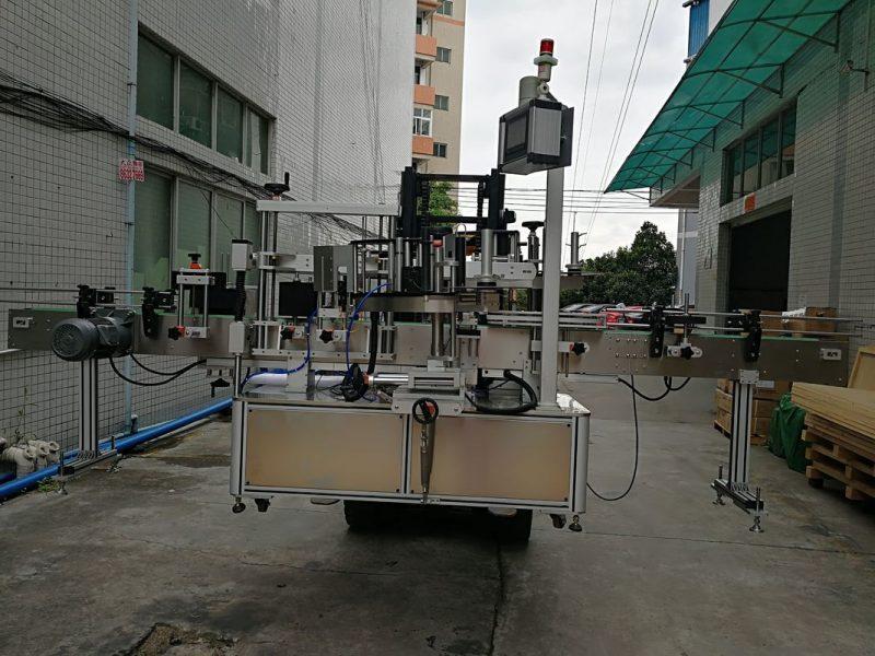 آلة لصق الملصقات الأوتوماتيكية ذات الجانب المزدوج من الصين ، آلة وضع العلامات على مورد جرة بلاستيكية