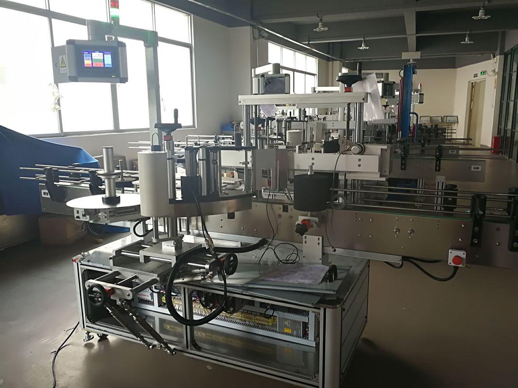 آلة وسم الزجاجة المسطحة ، آلة وضع الملصقات الأوتوماتيكية