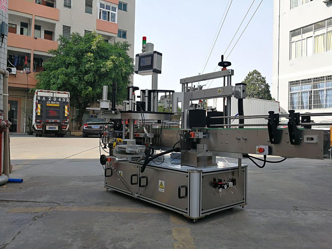 آلة وضع تسمية زجاجة مربعة الشكل ذات ثلاثة جوانب أوتوماتيكية عالية السرعة