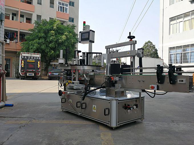 آلة وضع تسمية زجاجة مربعة الشكل ذات ثلاثة جوانب أوتوماتيكية عالية السرعة مع ملصق واحد