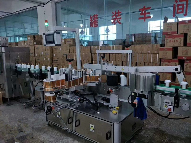 الصين التلقائي لاصق الزجاج الأمامي / الخلفي آلة وسم زجاجة عالية السرعة 5000-8000B / H المورد