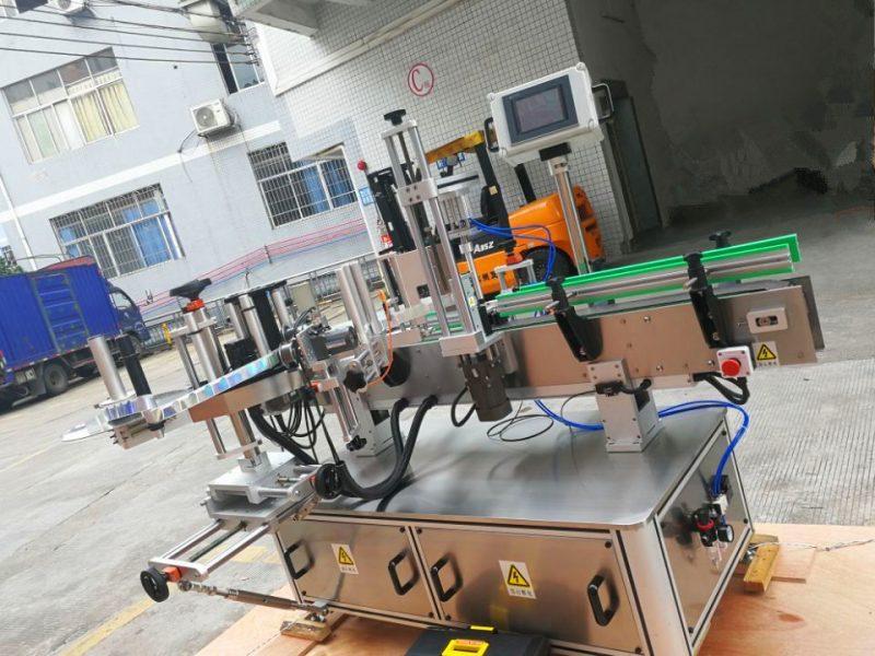 الصين آلة لصق الملصقات المستديرة الحساسة للضغط ، مورد آلة وضع الملصقات حول التفاف عمودي